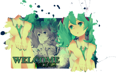 Hatsune Miku Welcome by amuletdream1