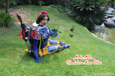 Amber Arden as Mandalorian Snow White by lawrencebrenner