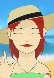 SunShine and Sun Hats by thirzasketchbook