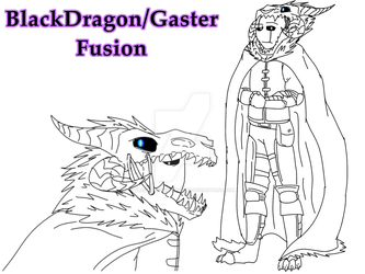 If UT Dragon Riders was an Anime: Fusion by BlackDragon-Studios