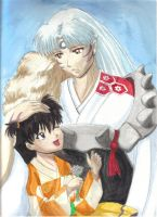 Rin and Sesshoumaru by MistressNatalyaQotD