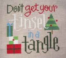 Don't Get Your Tinsel in a Tangle - Cross Stitch by merrywether