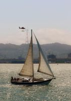 Sailboat on the Bay by Frostola