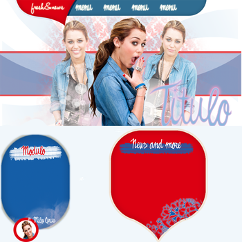 Layout Miley Free by TheFlamesOfRebellion