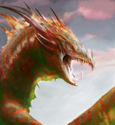 Dragon Study by Manzanedo