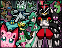 PMD-E: Team Pecha, Paion, and Nighty Knights by Galactic-Rainbow