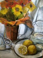 Still Life With Lemons by heybeliever