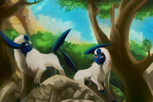 Commission Absol by mudkip-chan