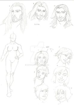 WS Oc sketches by Knyn