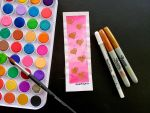 Valentine's Day Watercolor Bookmark by JakProjects