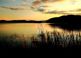 Late evening on the Lake of Menteith by Crannogphotographic