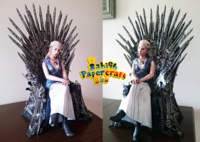 Daenerys Targaryen (Game of Thrones) Papercraft by Sabi996