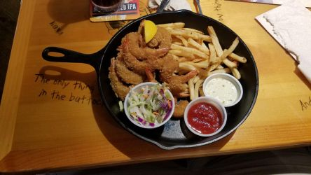 Fried Shrimps with French Fries by Marco-the-Scorpion