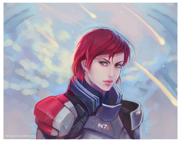 Commander Shepard by Linnpuzzle