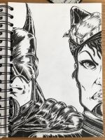Bat and Cat inked by richards9999