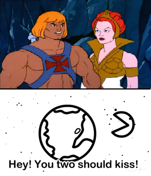 The moon wants He-Man and Teela to kiss by menslady125