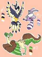 birdthing adoptables CLOSED by MinxyBaskerville