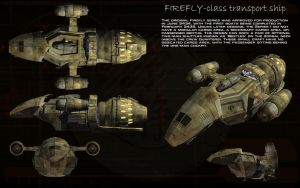 Firefly class transport ship Series 1 ortho by unusualsuspex
