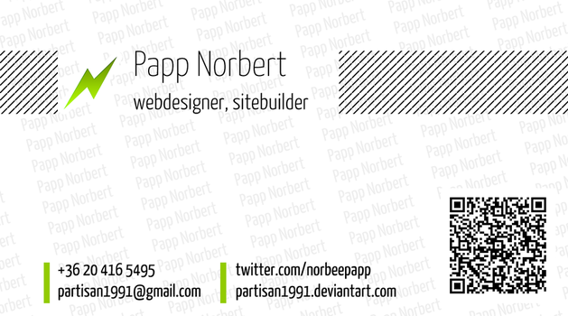 My old business card by partisan1991