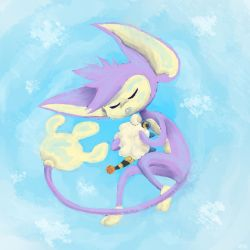 Snoozing Aipom by LittleMads
