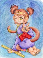 Year of the monkey Saruko Hime by devilkitten1