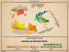 Building An Earthlike World: Language Map Alt. by manomow