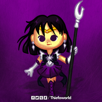 Huevember 14 - Sailor Saturn by Thiefoworld