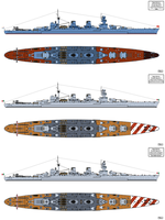 Ansaldo Big Gun Cruiser Design for Russia by Tzoli