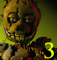 [FNAF3] Five Nights at Freddy's 3 icon remake 3.0 by AnthonyBlender