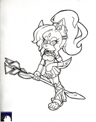 Astrid Even The Wolf-Husky - Traditional Uncolored by DL-95