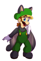 Luigi Squirrel power up by BaconBloodFire