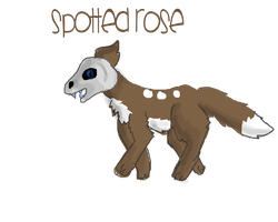 Spottedrose my OC (and main role playing wolf) by Ferretser
