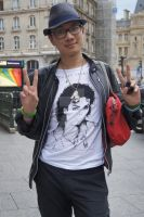 Me and Michael Jackson's Tee shirt 2014 Paris by mopiou