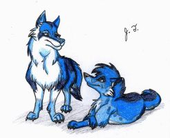 Canine Pictures - Animewolve538's Blue Wolves by joshbluemacaw