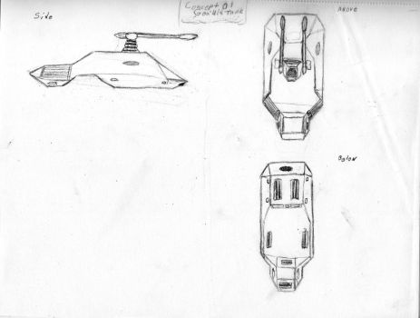 Goa'uld Light Tank Design 1 (WIP) by Commander-Fillmore