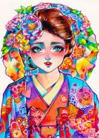 Japanese Girl by rianbowart