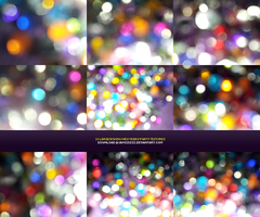 Colorful party bokeh textures by iamszissz