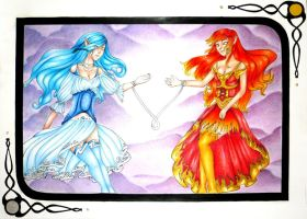Spirits : Fire and water by Lexou-chan