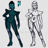 Fan Gem Redesign - Teal Diamond ***BIO ADDED*** by Grincubus