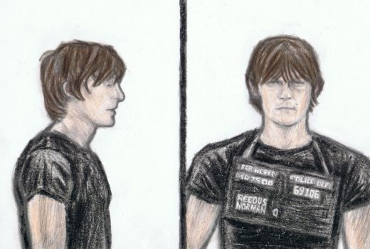 Young Norman Reedus by gagambo