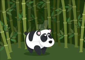 Cuttie Panda - Vector by Rafabr