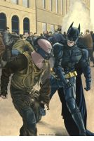 Bane v Batman by Marc137