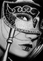 Behind The Mask by AngelasPortraits