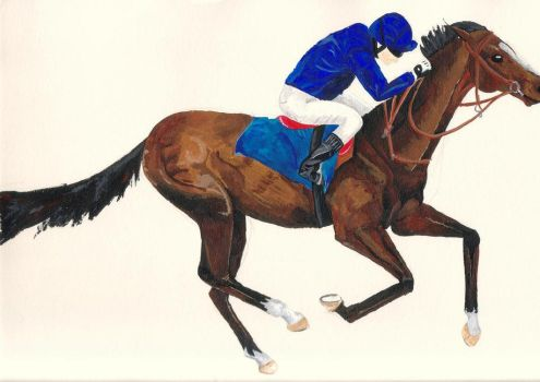 Race Horse by Deberly