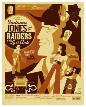 raiders of the lost ark poster by strongstuff