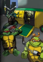 Ninja Turtles Attack by happyorangutan