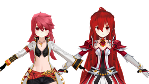 (MMD ELSWORD) Elesis face update by Cresitonia
