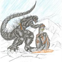 The end of an Arctic battle. by ChaosGhidorah