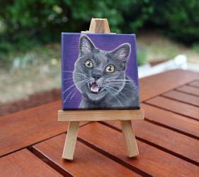 Another mini kitty painting by WispyChipmunk