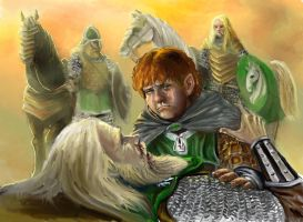 Merry and Theoden - colour by TolmanCotton